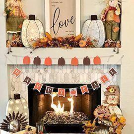 Hogardeck Happy Fall Linen Banner