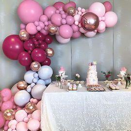 Macaron Rose Red Balloon Kit