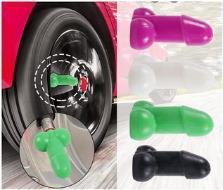 Novelty Rubber Tire Valve Stem Caps