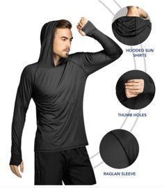 Men's UPF 50+ Sun Protection Hoodie Shirt