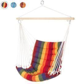 Padded Indoor/Outdoor Cotton Hammock Chair