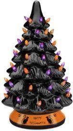 15 Pre Lit Ceramic Halloween Tree