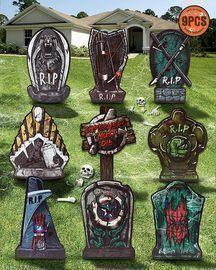 Halloween Tombstones Outdoor Decorations