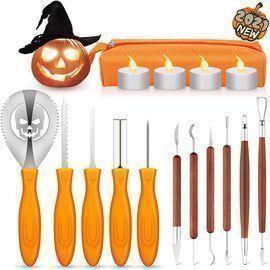 16 PCS Halloween Pumpkin Carving Kit