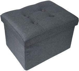 Foldable Storage Ottoman Footrest