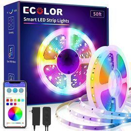50ft LED Bluetooth Smart Strip Light with App Control