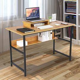 Computer Desk with Bookshelf & Monitor Riser