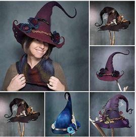 Halloween Felt Witch Hats