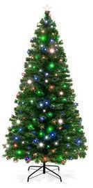 7' Fiber Optic Artificial X-mas Tree w/ 280 Lights