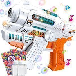 Bubble Guns for Kids with Music and Light