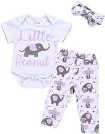 Newborn Baby Little Peanut Romper Set
