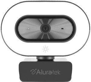 Aluratek 1080P Live Webcam w/ Adjustable Ring Light