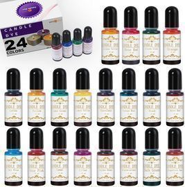 24 Assorted Colors Candle Making Liquid