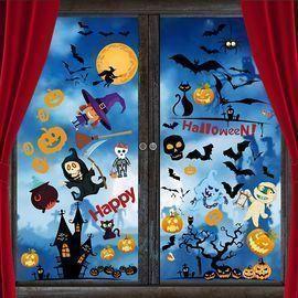 6 Sheets Halloween Window Stickers