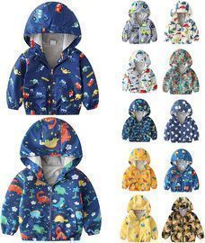 Baby Cartoon Dinosaur Hooded Jacket