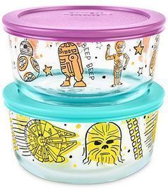 Pyrex 4-Pc. Star Wars Food Storage Container Set (3 Styles)