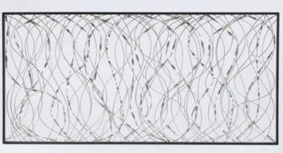 LuxenHome Metal Infinity Rectangular Wall Decor