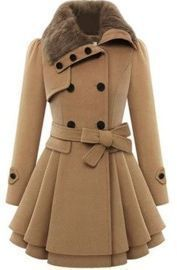 Double-Breasted Wool Trench Coat Jacket - All Colors
