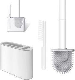 Toilet Brush with Silicone Bristles