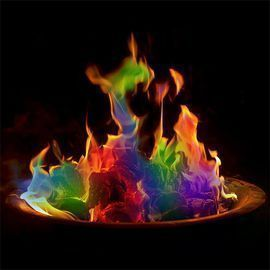 Colorful Vibrant Flames for Fire Pit