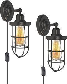 Rustic and Industrial Wall Light Fixtures (Set of 2)