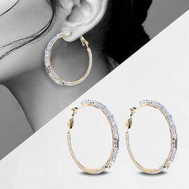 Gold Zircon Earrings