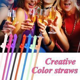 Funny Disposable Drinking Straws