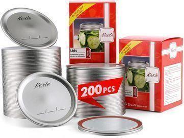 200pcs Regular Mouth Canning Lids