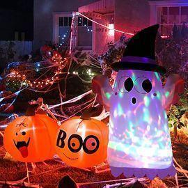 6' High Halloween Ghost & Pumpkin
