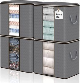 4 Pack Tall Extra Large Foldable Closet Organizers