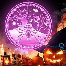 Halloween Purple Spider 3D Hanging Lights