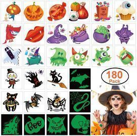 180pcs Assorted Halloween Tattoos