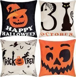 Halloween Pillow Covers - 4 PCs