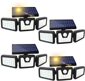 Waterproof Solar Motion Sensor Light- 4 Pack