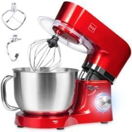 6.3Qt Stainless Steel Kitchen Stand Mixer + 3 Attachments