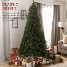 Premium Artificial Spruce Christmas Tree w/ Foldable Metal Base