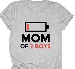 Mom of 2 Boys T-Shirt