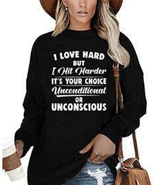 I Love Hard But I Hit Harder Shirt
