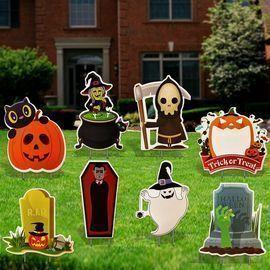 8 Pcs Halloween Decorations