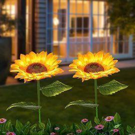 2 Pack Sunflower Solar Lights