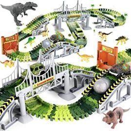 Dinosaur Race Car Track