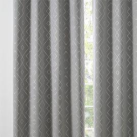Grey Printed Blackout Curtains 2 Panels Set -52x84