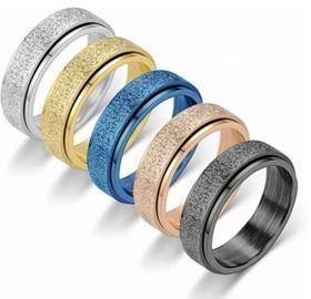 Stainless Steel Anxiety Rings