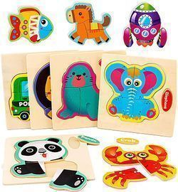 Wooden Animal Puzzles for Kids