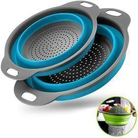 Collapsible Colanders with Handles 2 PCs