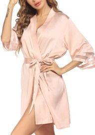 Womens Satin Kimono Robe