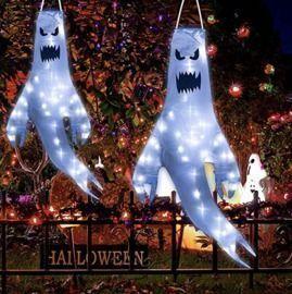 2Pieces Halloween Ghost Windsocks