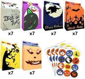 42 Pcs halloween bags for candy