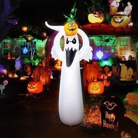 6FT Halloween Decoration Inflatable Ghost with LED Lights