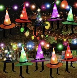 10Pack Halloween decoration witch lights